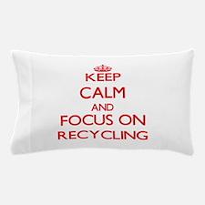 Cute I heart recycling Pillow Case