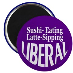 Latte-Sipping Liberal Magnet (10 pack)