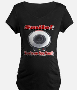 Smile! You're on Spy Cam! Maternity T-Shirt