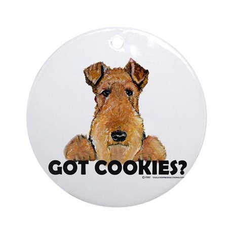 Irish Terrier Cookies Ornament (Round)