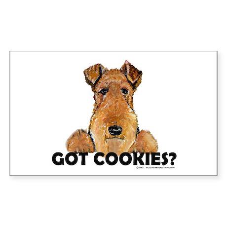 Irish Terrier Cookies Rectangle Sticker
