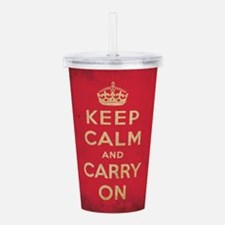 Keep Calm And Carry On Acrylic Double-wall Tumbler