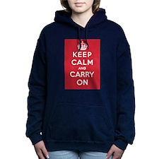 Keep Calm And Carry On Women's Hooded Sweatshirt
