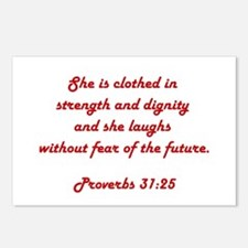 PROVERBS 31:25 Postcards (Package of 8)