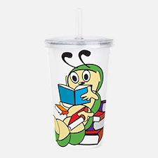 Cute Bookworm Acrylic Double-wall Tumbler