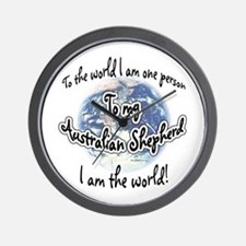 Aussie World2 Wall Clock
