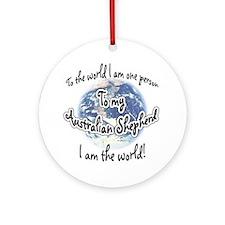 Aussie World2 Ornament (Round)