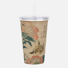 Hokusai Peony and Canary Acrylic Double-wall Tumbl