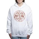 Japanese Design Women's Hooded Sweatshirt