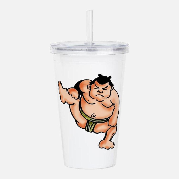 Sumo Wrestler Acrylic Double-wall Tumbler