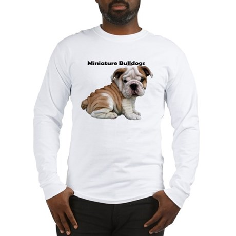 Minature English Bulldog puppy Long Sleeve T-Shirt