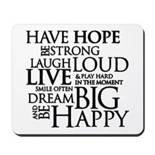 Be Strong Quotes Typography Mousepad