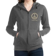 Vintage Imagine Peace Women's Zip Hoodie