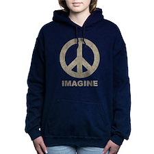Vintage Imagine Peace Women's Hooded Sweatshirt