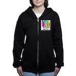 Colorful Peace Symbol Women's Zip Hoodie