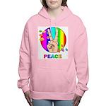 Colorful Peace Symbol Women's Hooded Sweatshirt