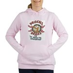 Retro Advertising Women's Hooded Sweatshirt
