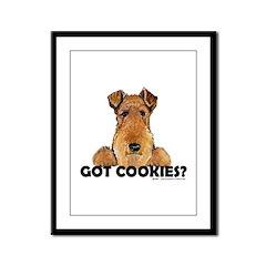 Lakeland Terrier Cookies Framed Panel Print