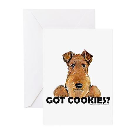 Lakeland Terrier Cookies Greeting Cards (Package o