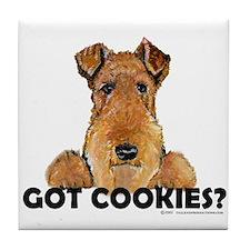 Lakeland Terrier Cookies Tile Coaster