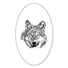 Hipster Wolf Head Decal