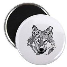 Hipster Wolf Head Magnet