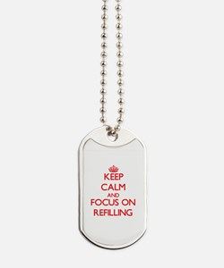 Cool Keep calm and reload Dog Tags