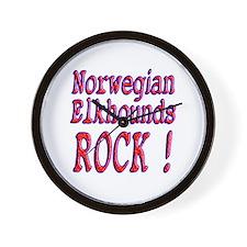 Norwegian Elkhounds Wall Clock