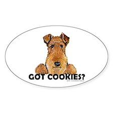 Lakeland Terrier Cookies Oval Decal