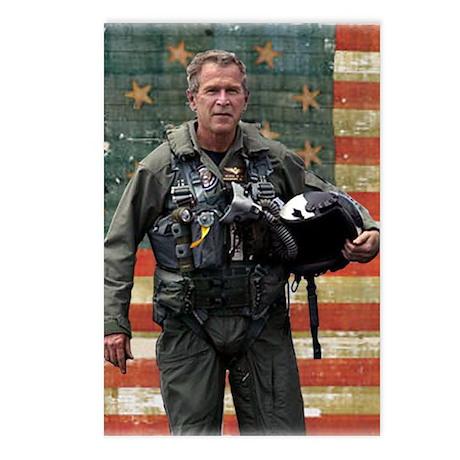 George W. Bush Patriotic Postcards (Package of 8)
