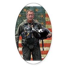 George W. Bush Patriotic Oval Decal