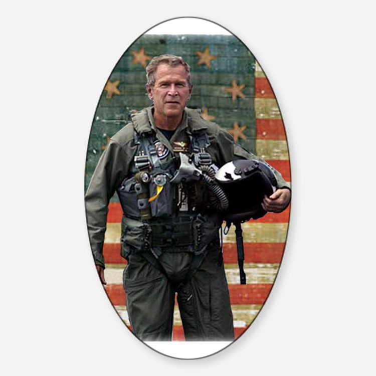 George W. Bush Patriotic Oval Decal