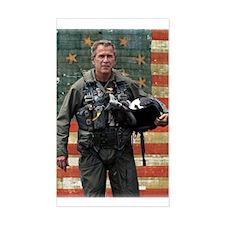 George W. Bush Patriotic Rectangle Decal