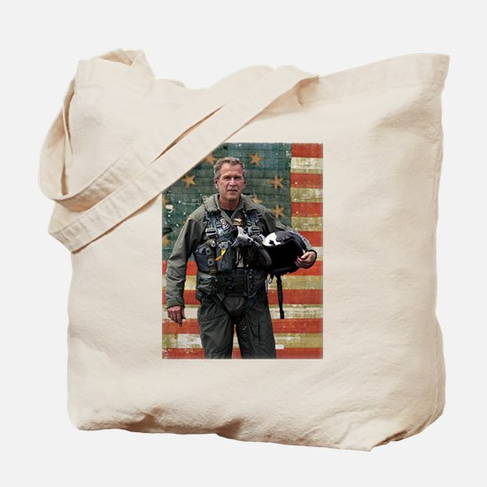 George W. Bush Patriotic Tote Bag