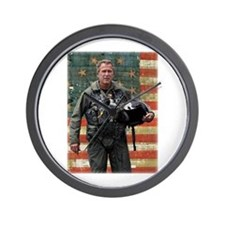 George W. Bush Patriotic Wall Clock