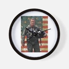 George W. Bush Patriotic Wall Clock
