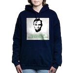 Abraham Lincoln Women's Hooded Sweatshirt