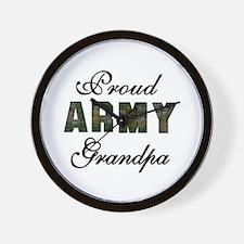 Proud Army Grandpa Wall Clock