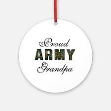 Proud Army Grandpa Ornament (Round)