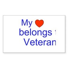 My Heart Belongs to a Veteran Decal