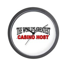"""The World's Greatest Casino Host"" Wall Clock"