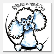 "Cute Miniature poodles Square Car Magnet 3"" x 3"""