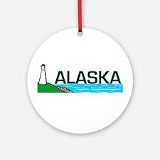 Alaska Lighthouse Ornament (Round)