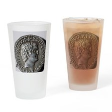 Roman coin. Mark Antony. Drinking Glass