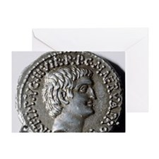 Roman coin. Mark Antony. Greeting Card