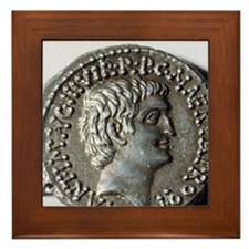 Roman coin. Mark Antony. Framed Tile