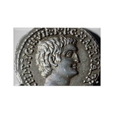 Roman coin. Mark Antony. Rectangle Magnet
