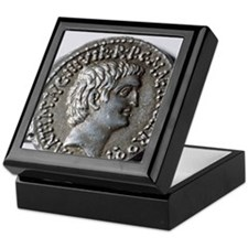 Roman coin. Mark Antony. Keepsake Box