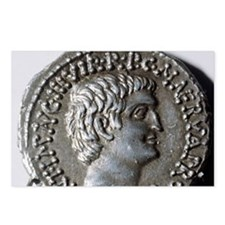 Roman coin. Mark Antony. Postcards (Package of 8)