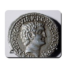 Roman coin. Mark Antony. Mousepad
